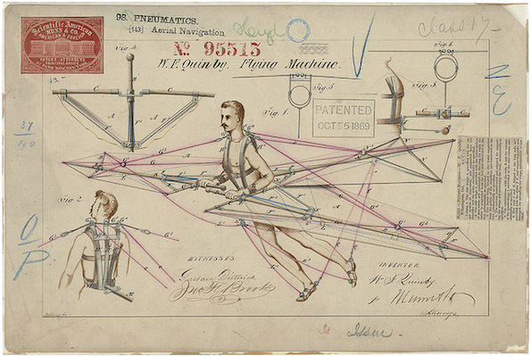 Lentokoneen vanha patentti