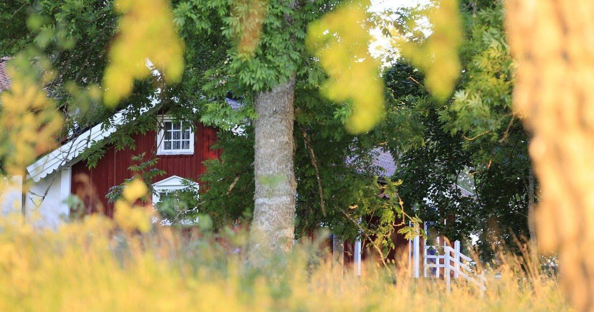 Vanha talo puutarhassa